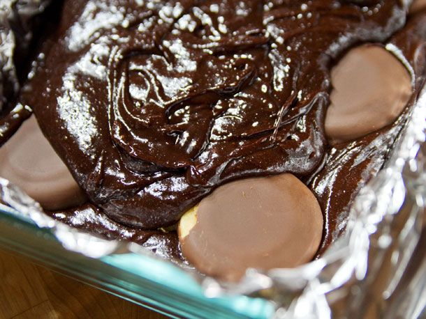 Tagalong Brownies  Peanut buttery Tagalongs melt right into brownie batter. Use your favorite brownie recipe and divide it in half. Spread half the batter in a pan, line it with Tagalongs, and spread the rest on top. Bake until a toothpick comes out mostly dry.