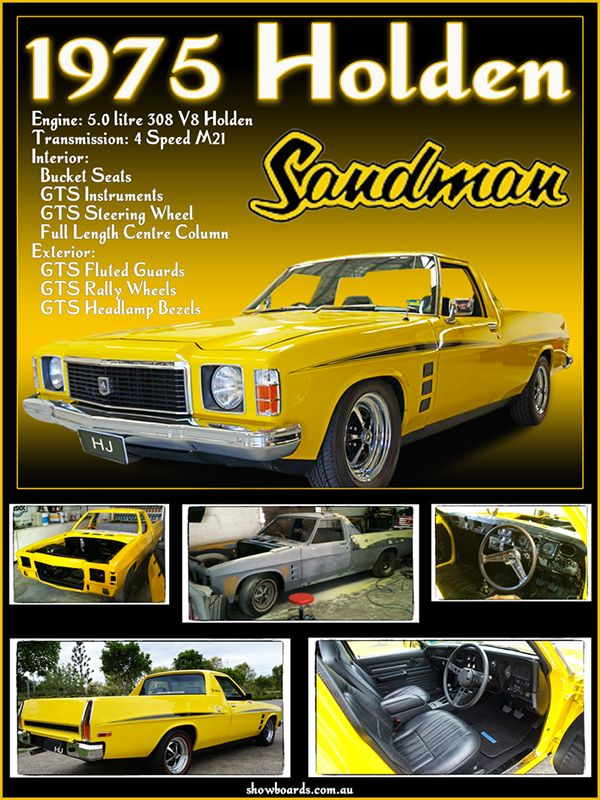 Holden Sandman Ute montage photo print show board