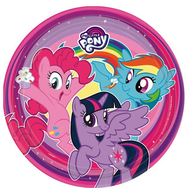 HORSE AND PONY SMALL PAPER PLATES 8 ~ Birthday Party Supplies Cake Dessert