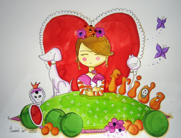 Ilustración personalizada para Frida