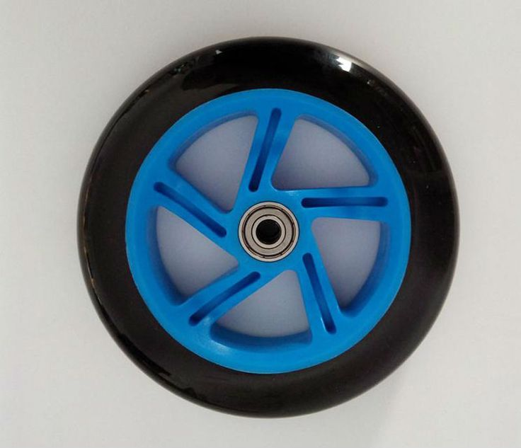 free shipping scooter wheel PU diameter 145 mm thickness 30 mm 3 pcs / lot with bearings #Affiliate