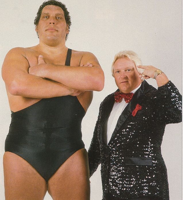 """Andre the Giant and Bobby """"The Brain"""" Heenan"""