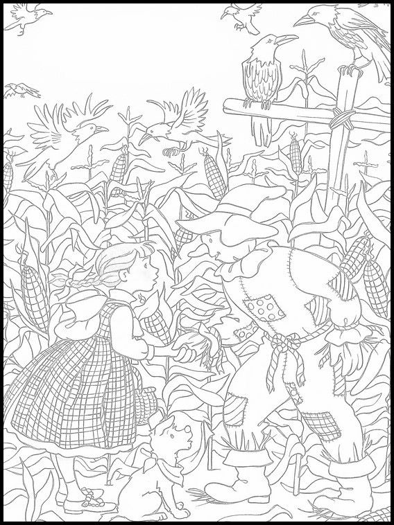 The Wizard Of Oz Printable Coloring Pages 3 Coloring Pages Colorful Drawings Coloring Books