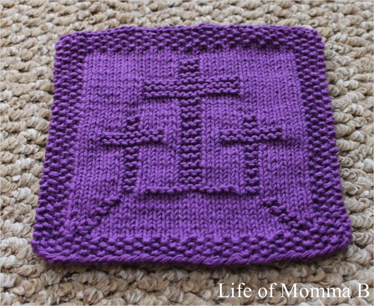 Knitting Instructions For Dishcloths : Best images about knitted dishcloth patterns on