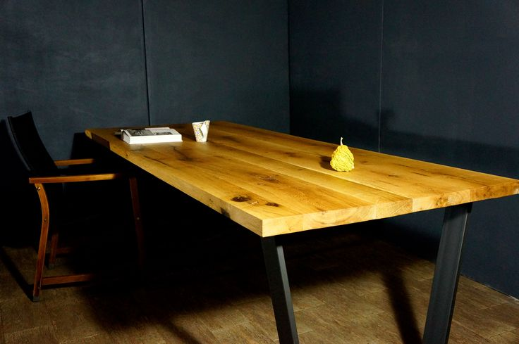 Contemporary solid oak desk