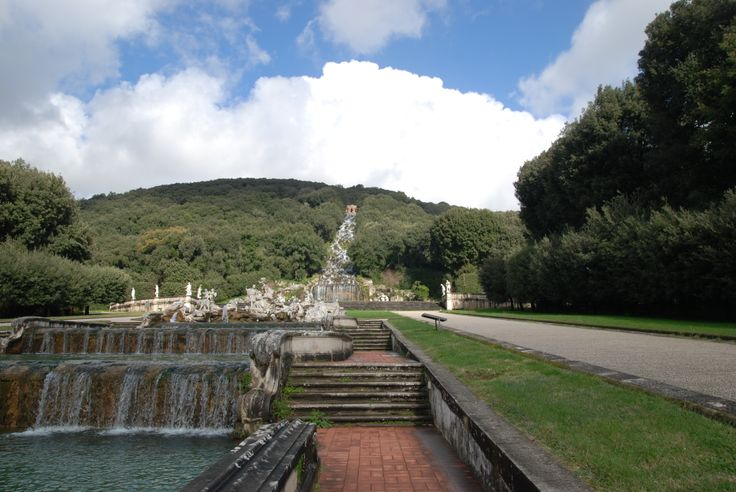garden of the palace of Caserta