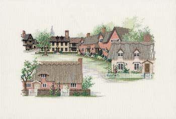 Suffolk Village Cross Stitch Kit from Derwentwater Designs