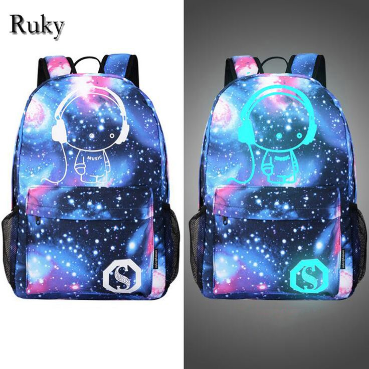 New Fashion Men's Backpack Anime Starry sky Luminous Printing Teenagers Casual Mochila Men Women's Student Cartoon School Bags-in Backpacks from Luggage & Bags on Aliexpress.com | Alibaba Group