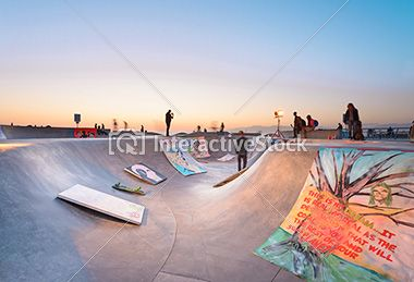 Venice beach skatepark #sport #playing #skateboarding #fun #interactivestock