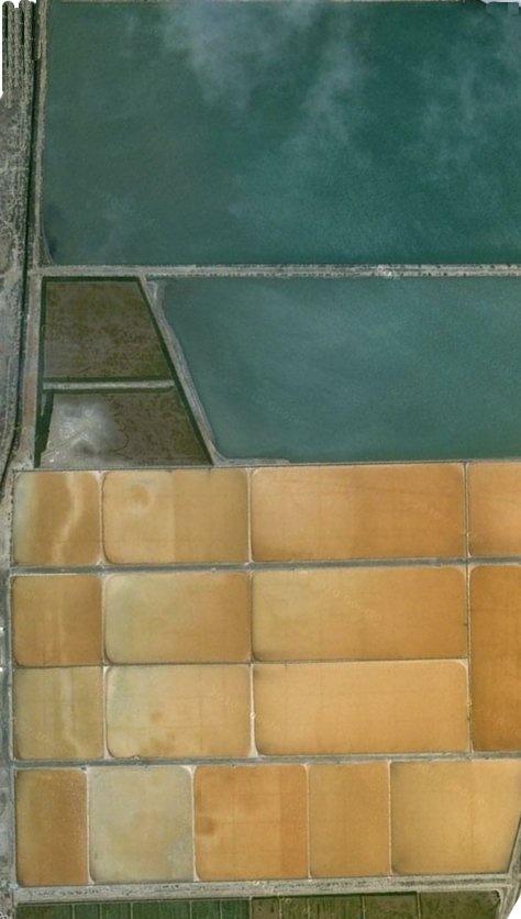 Salt Flats in PortugalSalts Flats, Line Colors Texture, Land Art