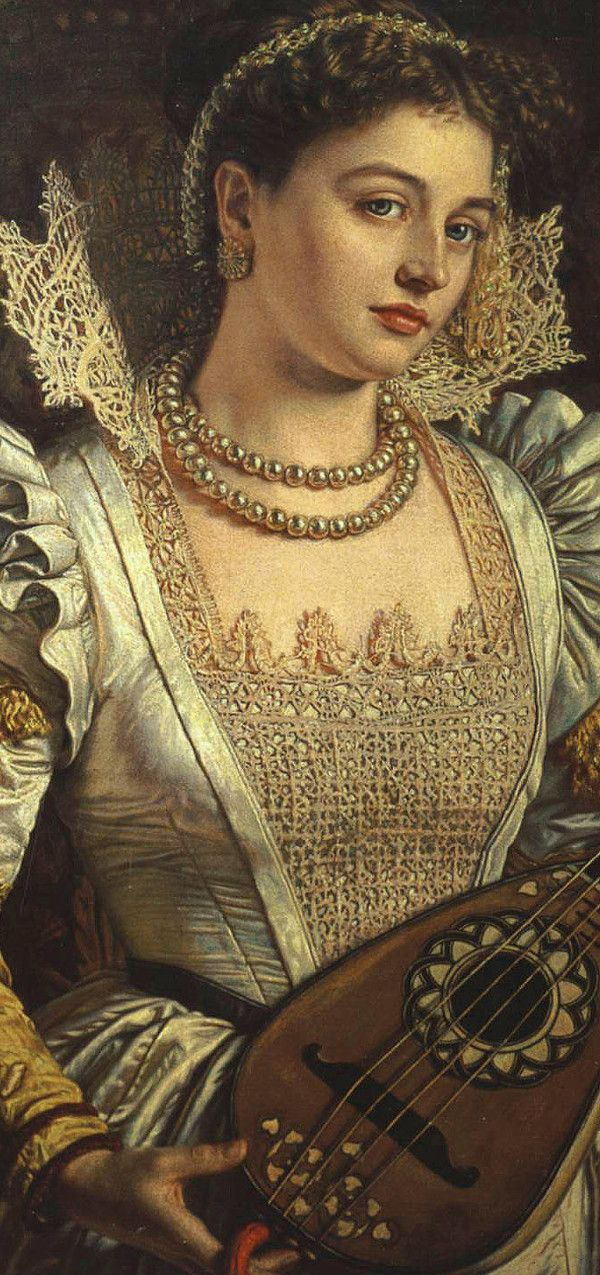 Bianca By William Holman Hunt, detail (British 1827-1910)