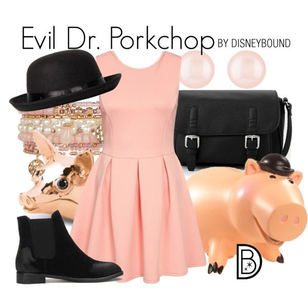Evil Dr. Porkchop from Toy Story inspires this adorable look. | fashion | outfits | disneyland outfits | disney world outfits | disney fashion outfits | disneybound | disneybound outfits | disney outfits | disney outfit ideas |