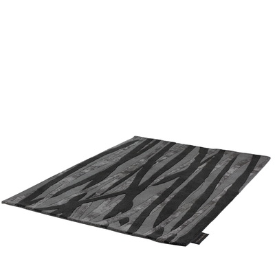 This contemporary rug has a blend of complementing greys and blacks to create a statement that will be a feature in any room!