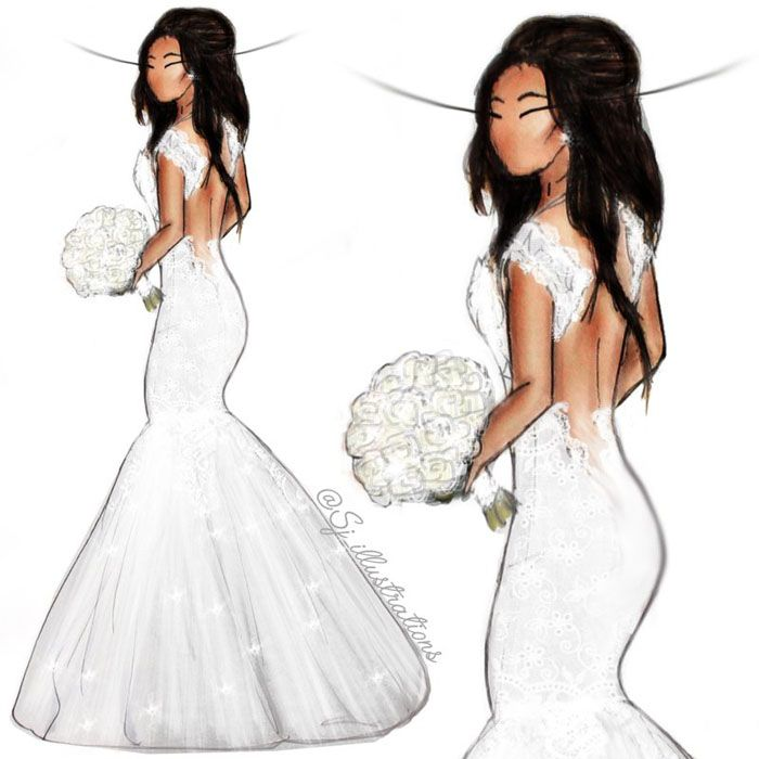 Guess who: Celebrity brides who looked lovely in lace by SJ Illustrations | Michelle Keegan | weddingsite.co.uk