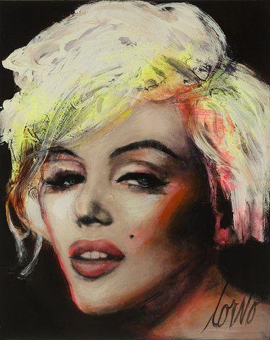 "Corno Portraits | Corno E-Store Marilyn 21 (P064) 30"" x 24"" Mixed Media on Canvas"