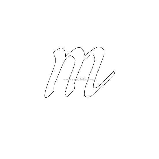 Lowercase Calligraphy Wall Stencil Letter M Letter