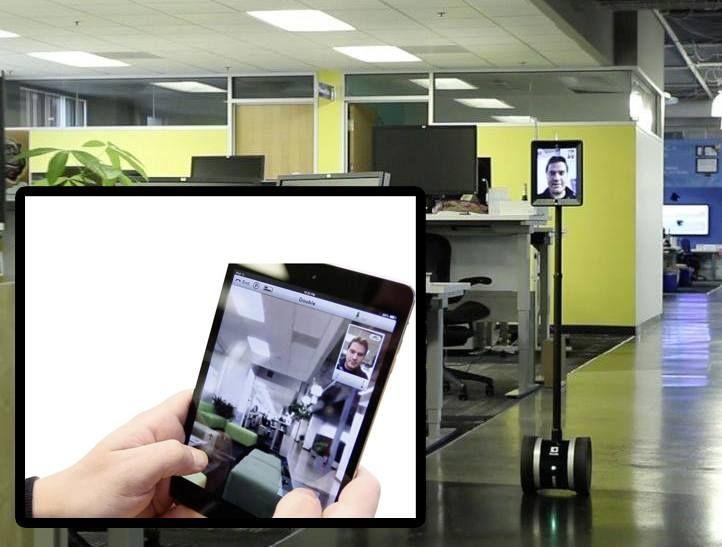 Thuiswerken en toch op kantoor zijn? Dat kan met http://conr.nl/Double-2, de iPad op wielen. Zo mis je nooit een belangrijke meeting of presentatie op de werkvloer.