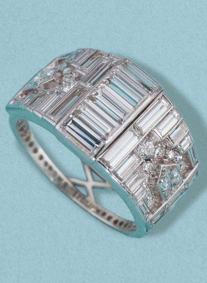 7e82be4dd A magnificent Art Deco multi-cut diamond and platinum set ring. English,  circa 1930.