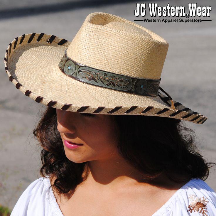 """""""Tuff Lady"""" Bone Color Straw Hat."""