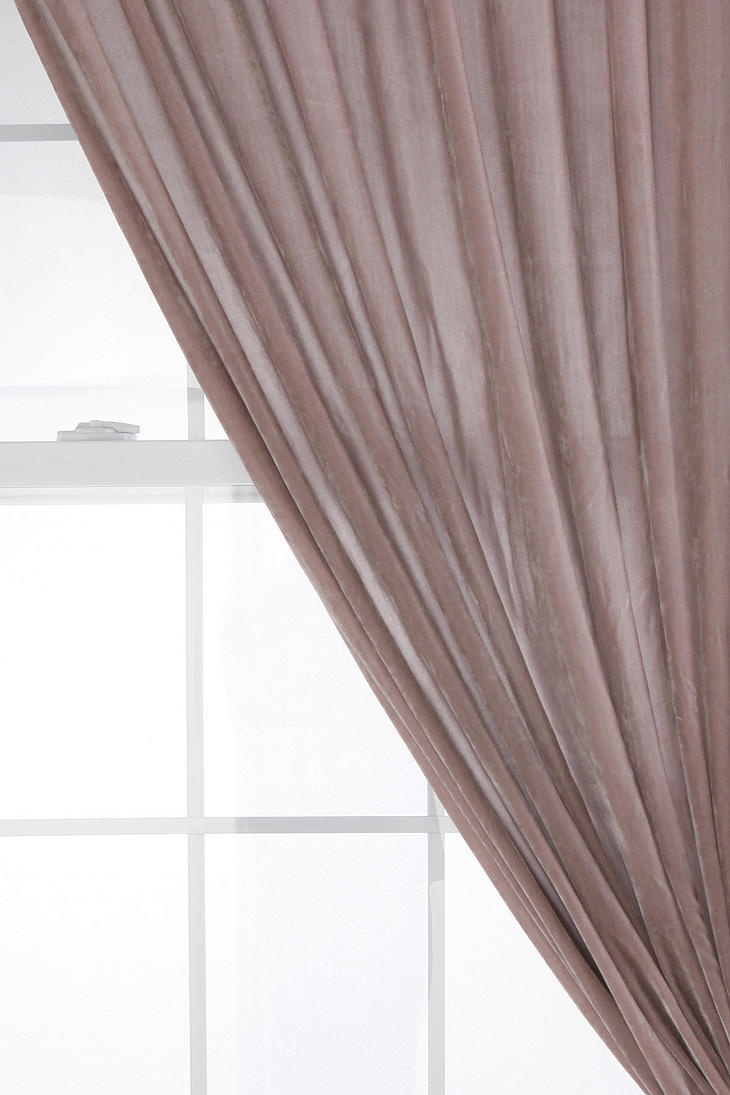 Velvet curtains - living room or bedroom. Living: (light mauve) Would need 6. Total cost - (248) Bedroom: (green) Need 3 - (120)