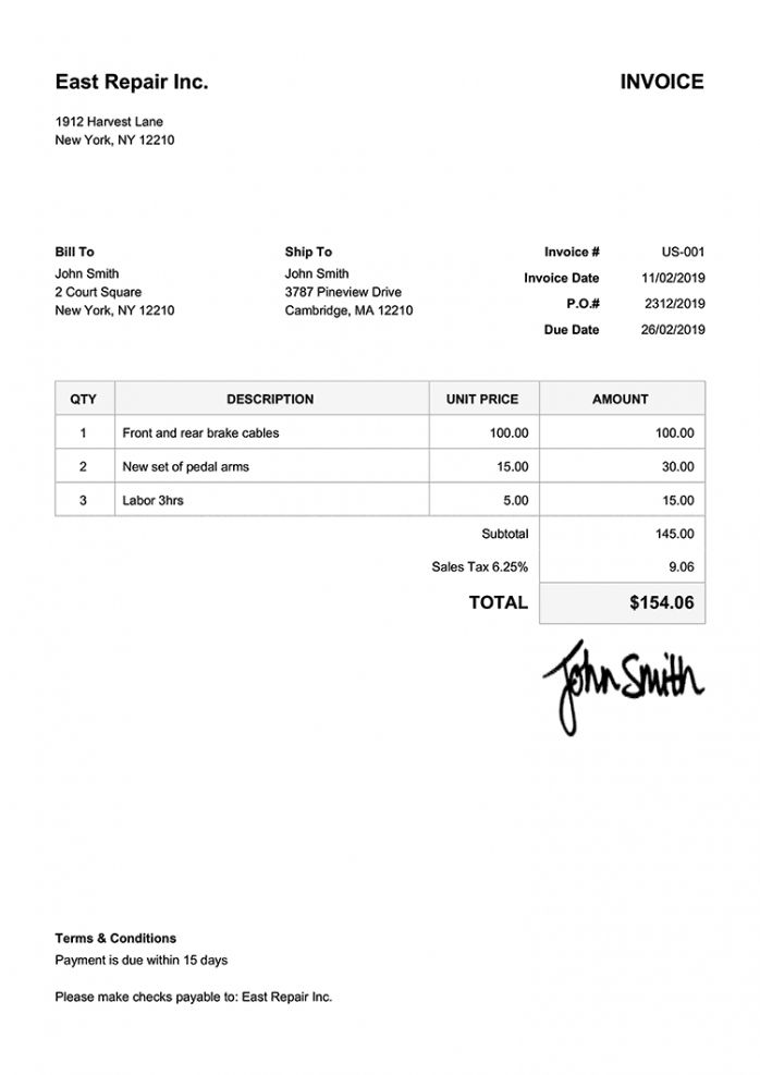 Create Your Own Format Of An Invoice Pdf Example In 2021 Invoice Template Word Invoice Template Receipt Template