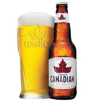 Molson Canadian Beer. I want this glass too.