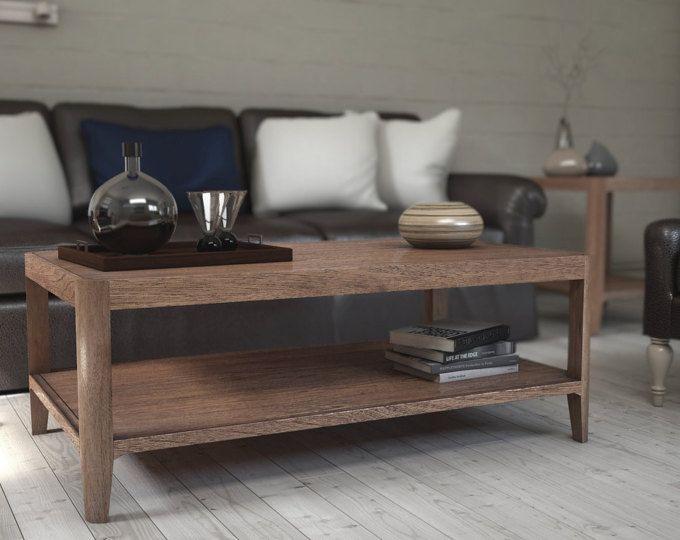 Mesa de nogal mediados siglo mesa de centro, mesa delantera de mediados del siglo, sofá de mediados del siglo - Ekais línea de BQ