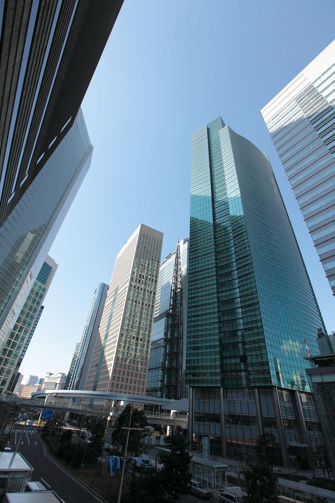 Shiodome Skyscrapers-TOKYO