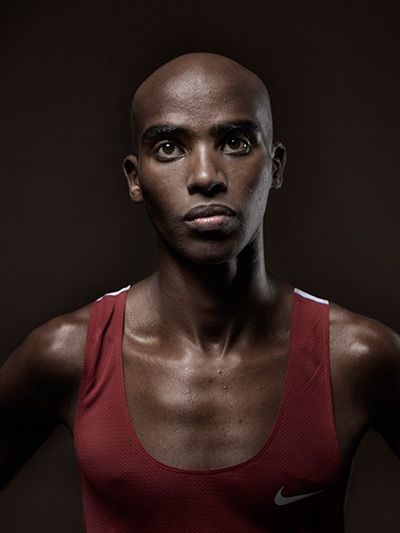 Mo Farah by Kate Peters. A great athlete - brave running style.