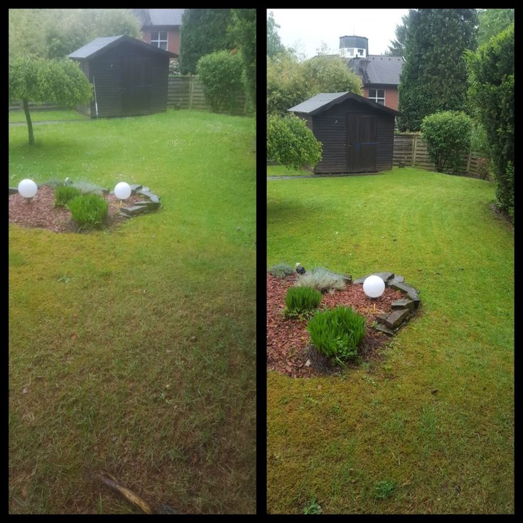 Cool Ihr frisch gem hter Rasen hei t Sie in Ihrem erfrischten Garten willkommen rasen rasenm her