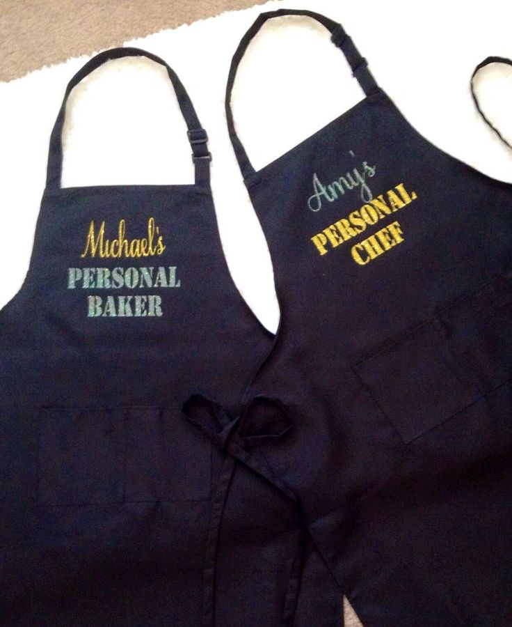 A personal favorite from my Etsy shop https://www.etsy.com/listing/587477011/personalized-aprons-custom-aprons