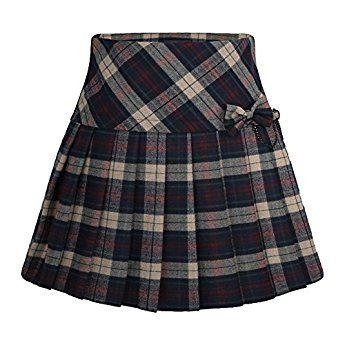 Cheerlife Damen Heiß Schule Mädchen Kariert Röcke Minirock Wollrock Faltenröcke kurz Skirt