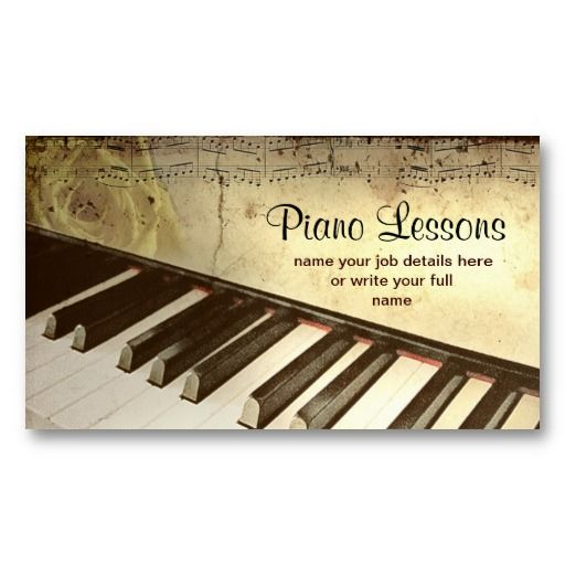 20 best Piano Teacher Business Cards images on Pinterest | Teacher ...
