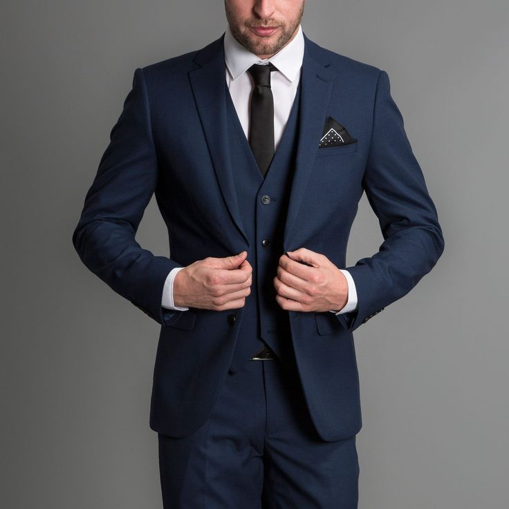 ONESIX5IVE Slim Fit Blue Puppytooth Three Piece Suit - Partywear - Clothing - Casualwear | Slaters