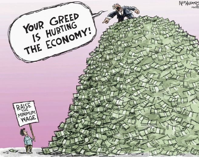Image result for cartoons on wage stagnation