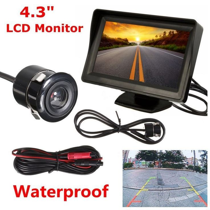 4.3'' Car Rear View LCD Monitor + Night Vision Reverse Parking Backup Camera Kit #UnbrandedGeneric