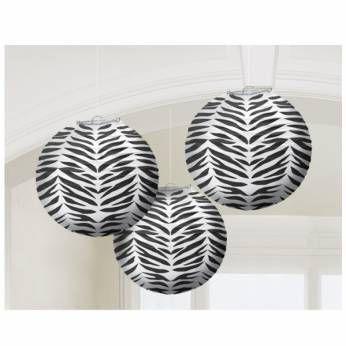 Papieren Lantaarns met Zebraprint