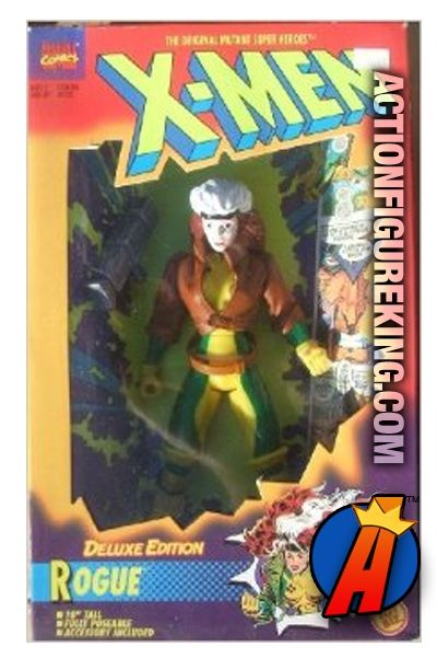 This Deluxe 10-inch Rogue action figure sculpt from the X-Men line of figures was used as the basis for all of the female figures from this line. #rogue #xmen #actionfigure #toybiz