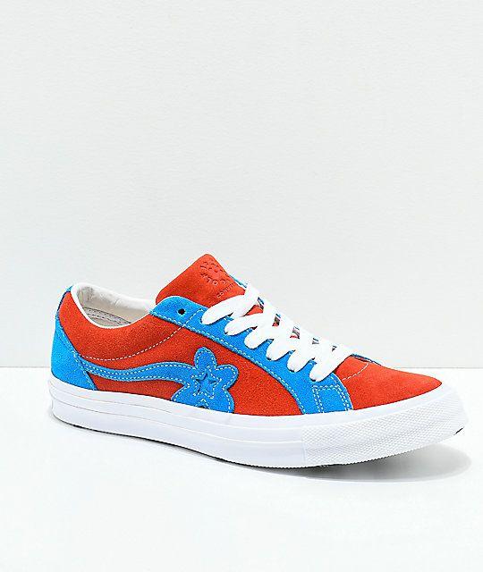 e359afb9 Converse x Golf Wang One Star Le Fleur Lava & Diva Blue Skate Shoes ...