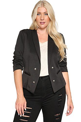 Special Offer: $31.99 amazon.com Made to top any outfit, this must-have blazer is an essential go-to for polished style.Button accents and an asymmetrical hem give this polished look a hint of sophistication that is perfect for your professional wardrobe. This design is a work staple when...