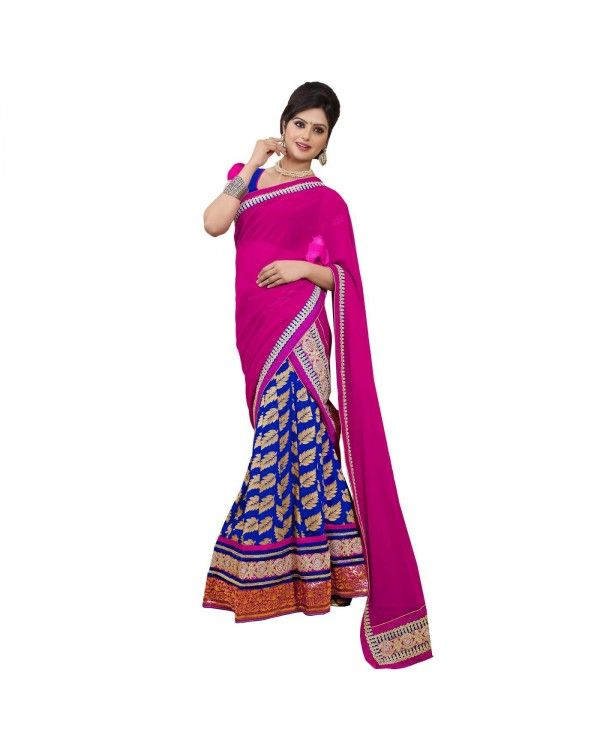 Pink Resham Embroidery Lehenga Only @Rs.5,820 55% OFF   To Buy Click Below:- http://www.ethnicstation.com/pink-resham-embroidery-lehenga-rc5517  #ReshamEmbroideryLehenga #OnlineShopping