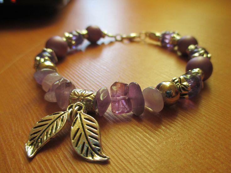 Handmade bracelet. We love purple and amethyst of course!