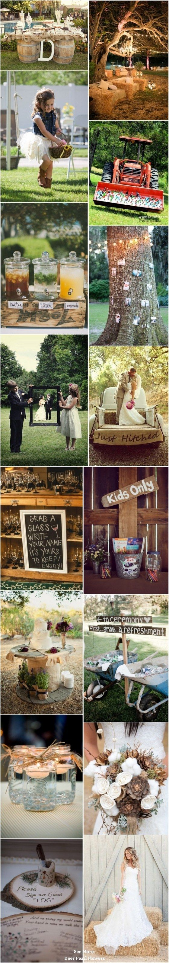 56 Perfect Rustic Country Wedding Ideas / http://www.deerpearlflowers.com/50-perfect-rustic-country-wedding-ideas/