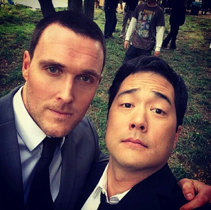 Rigsby and Cho alias Owain Yeoman and Tim Kang from The Mentalist! ♥