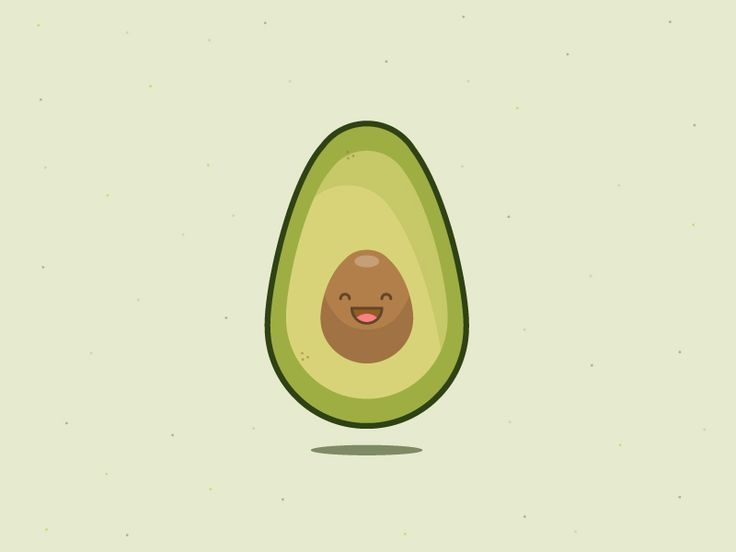 Авокадо с лицом рисунок, юбилеем женщине