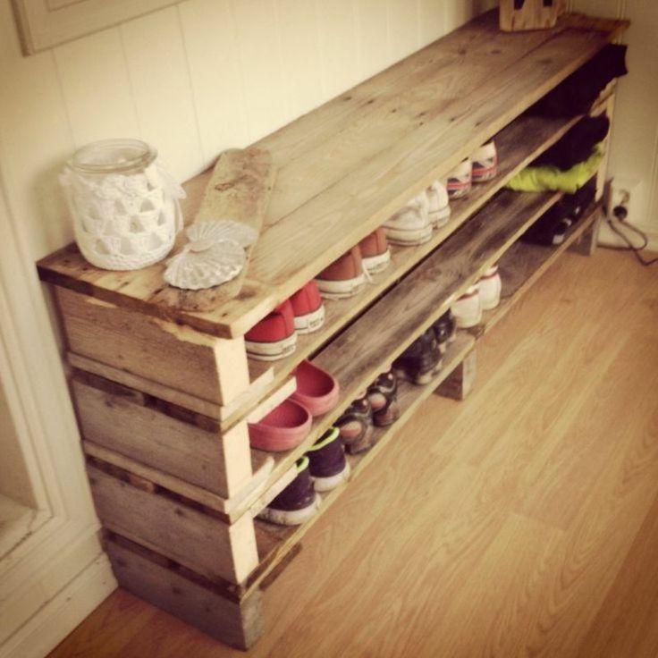 Schuhregal bauen aus Paletten Ideen und Inspiratio…