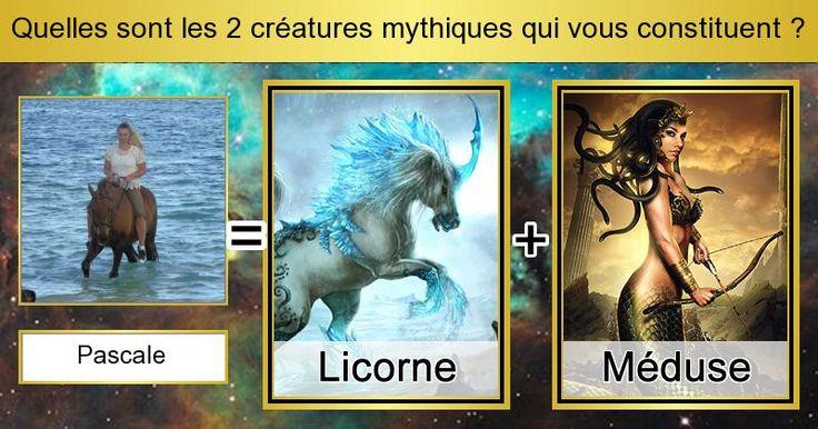 Quelles sont les 2 créatures mythiques qui vous constituent ?