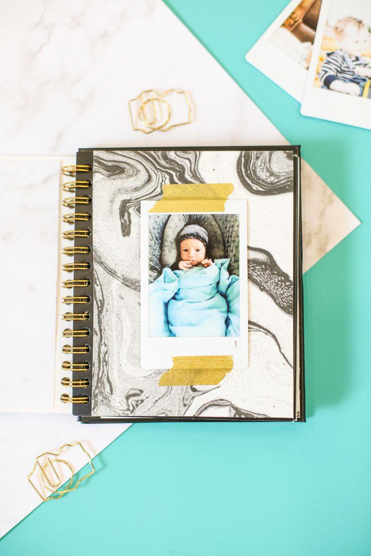 DIY Monthly Baby Photo Album with Instax Film