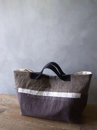 Love the shape and multiple linen fabrics