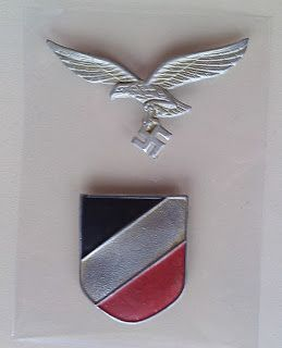 LUFTWAFFE SHIELD BADGE PITH HELMET INSIGNIA GERMAN WW2 PRICE $40